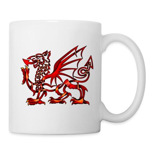 celtic knot welsh dragon by knotyourworld d4xqxs5 - Mug
