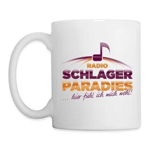 Logo SchlagerParadies glossy Slogan png - Tasse
