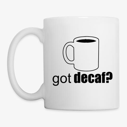 decaf - Mug blanc