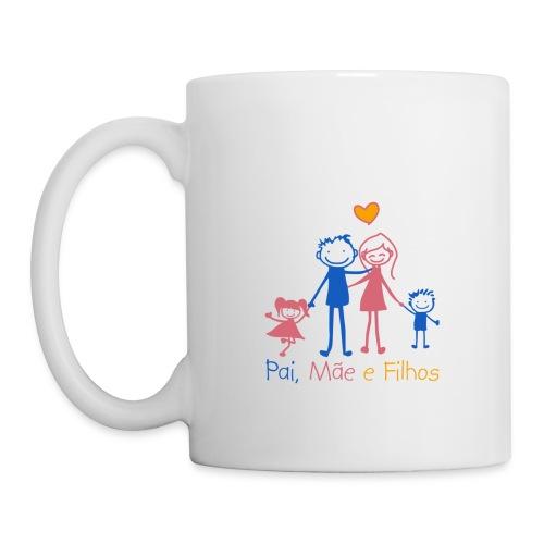 Pai Mãe e Filhos - Mug
