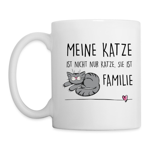 Vorschau: Meine Katze ist Familie - Tasse