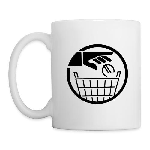 Euro poubelle NOIR - Mug blanc