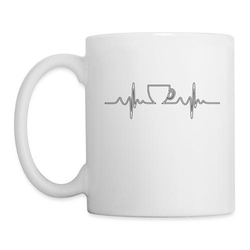 Herzschlag Kaffee Design - Tasse