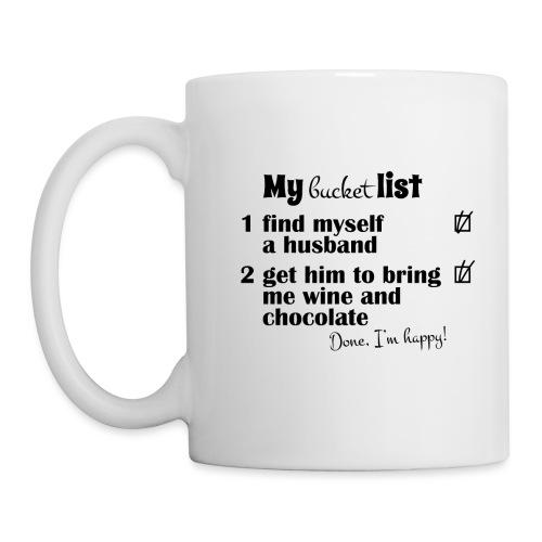 My bucket list, husband bring wine and chocholate - Muki