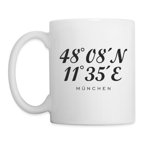 Münchener Koordinaten (Schwarz) München - Tasse