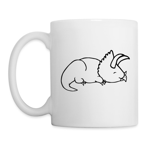 Art Deco Space Triceratops - Mugg