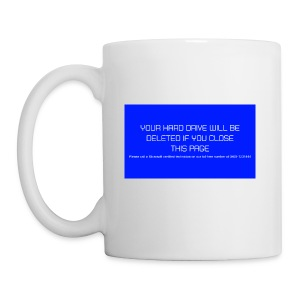 Hard Drive Deleted Notice - Mug