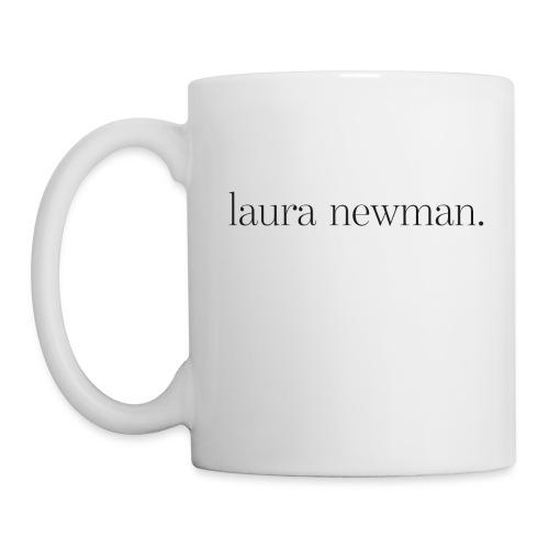 laura newman. Logo | dark - Tasse