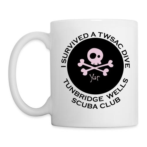 TWSAC vector back skull - Mug