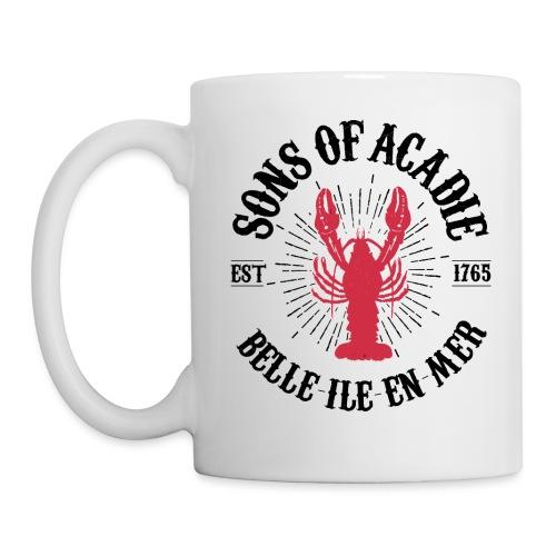 Sons of Acadie Homard Rouge et Noir - Mug blanc