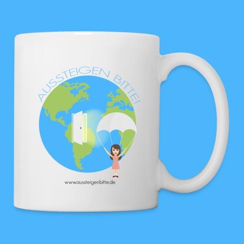 Haltet die Welt an blau - Tasse