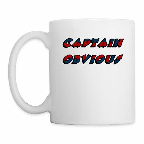 Cpt. Obvious 2 Farben, 4 - Tasse