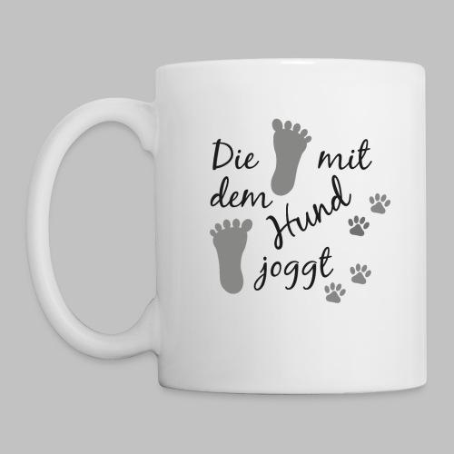 Die mit dem Hund joggt - Tasse