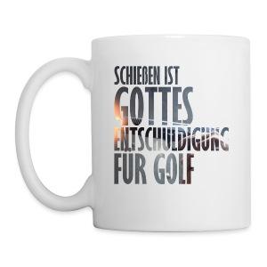 Gottes Entschuldigung für Golf - Tasse