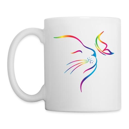 Vorschau: rainbow butterfly cat - Tasse