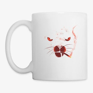 smocking cat - Tasse