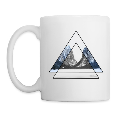 mountains geometric triangular landscape - Tazza