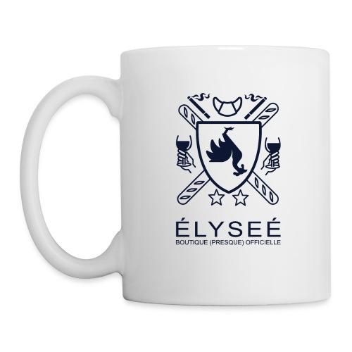 elysee logo droit - Mug blanc