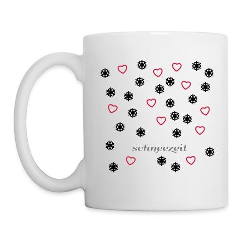 Flocken mit Herzen - Tasse