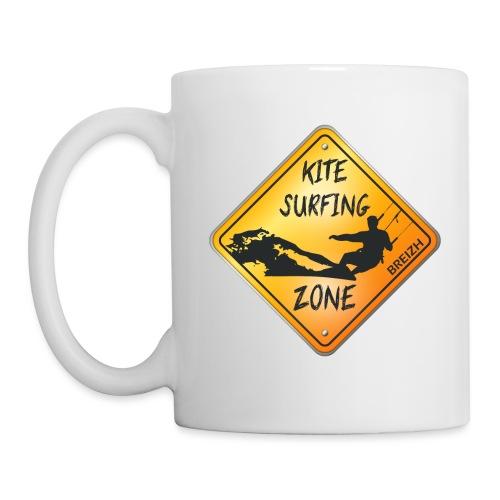 KITESURFING ZONE BREIZH - Mug blanc