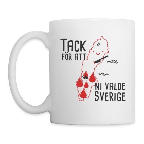 Tack för att ni valde Sverige - Mugg