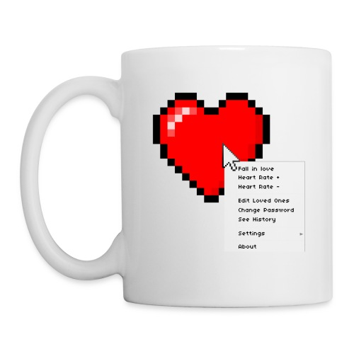 Options of the heart on a mug - Kop/krus