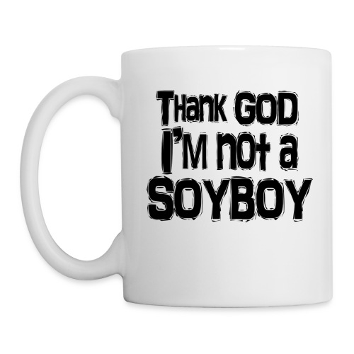 Thank God I'm NOT A SOYBOY Black - Mug