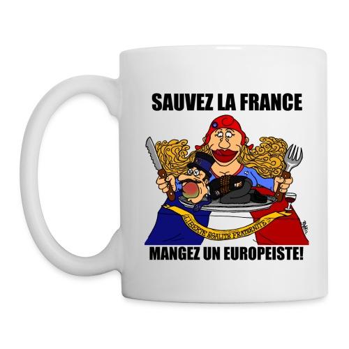 mangez un europeiste - Mug blanc