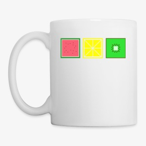 DIGITAL FRUITS - Pixel Melone - Zitrone - Kiwi - Tasse