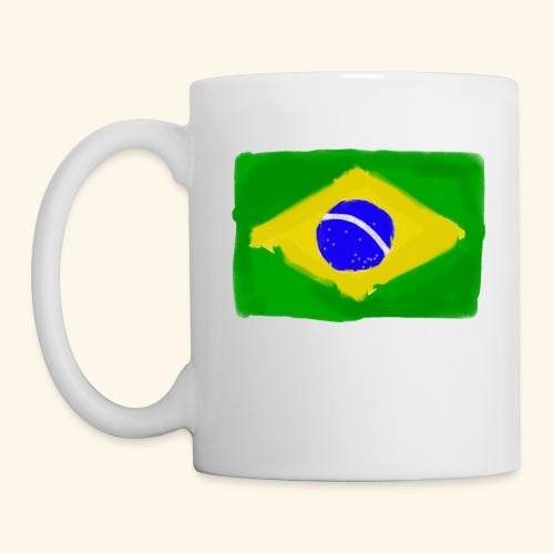Brazilian flag InWatercolours - Mugg