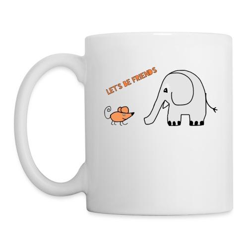 Elephant and mouse, friends - Mug