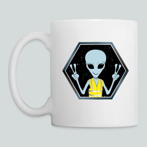 Extraterrestre Gilet jaune - Mug blanc