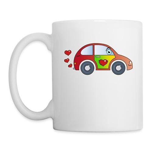Kids Car Spielzeugauto Herzen bunt fröhlich Kinder - Mug