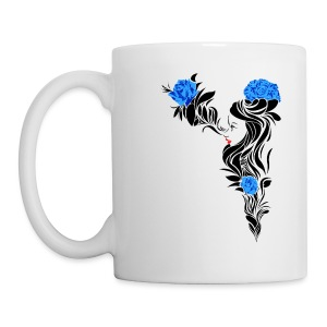 Blue Flowers - Taza