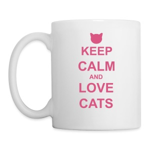 Keep Calm and Love Cats - Pink - Mug