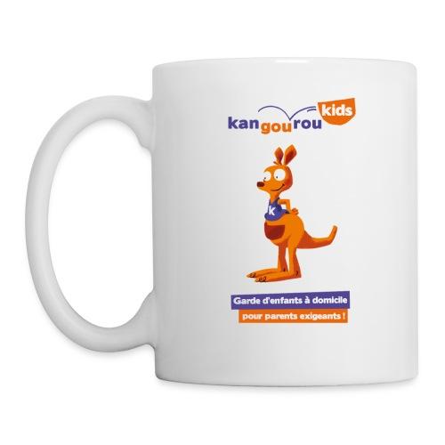 logo kangourou baseline png - Mug blanc