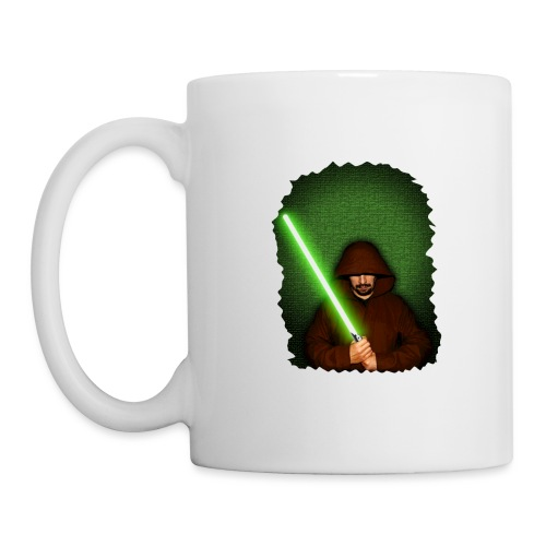 Jedi warrior with green lightsaber - Tazza