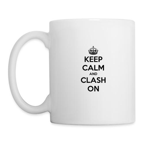 tasse keep calm and clash on - Mug blanc