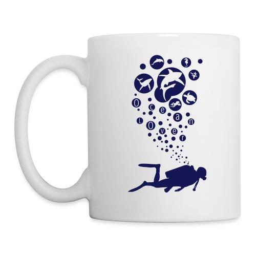 The Scuba Diver - Le plongeur - Mug blanc