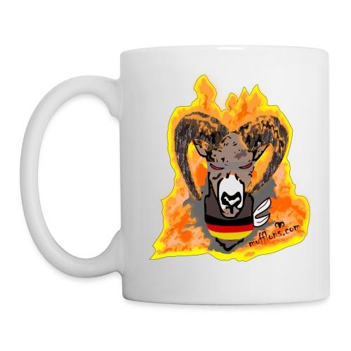 Mufflon in Flammen Germ - Tasse