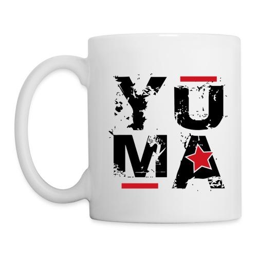 yuma noir rouge - Mug blanc