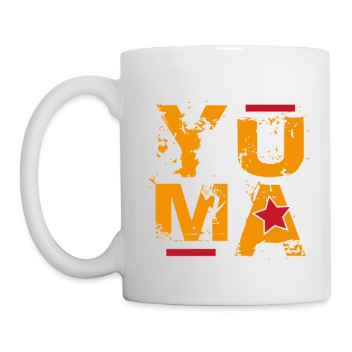 yuma orange rouge - Mug blanc