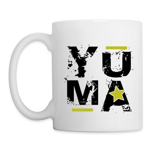 yuma noir jaune - Mug blanc