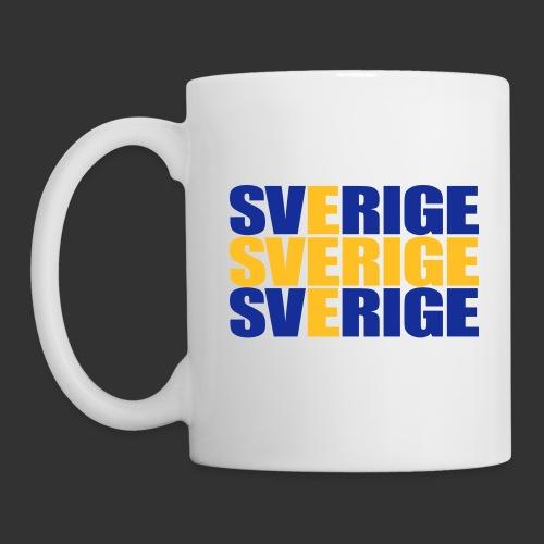 SVERIGE flaggtext - Mugg