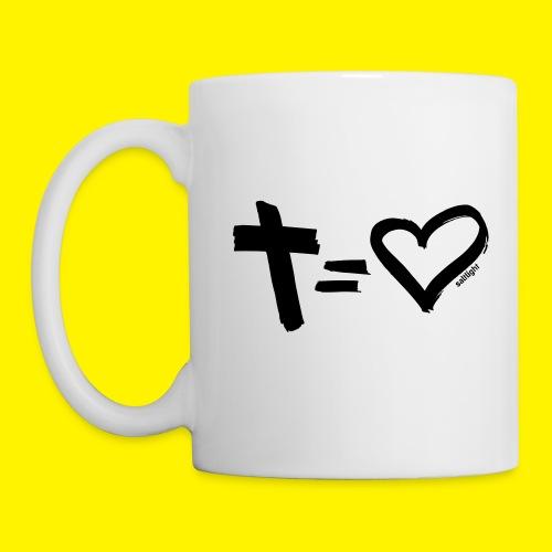 Cross = Heart BLACK - Mug