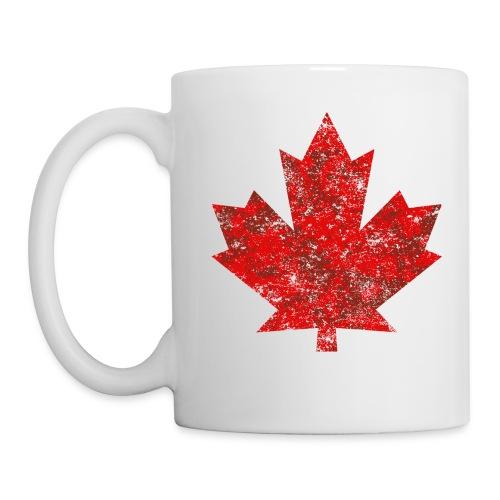 Kanada Canada Maple Leaf Ahornblatt Grunge Amerika - Mug