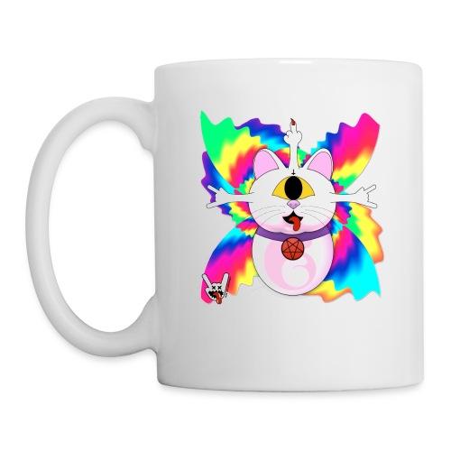 Chat diabolique - Mug blanc