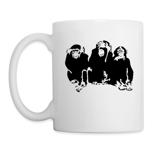 3 monkeys - Mug blanc