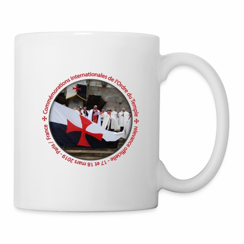 Commémoration Ordre du Temple - Mug blanc