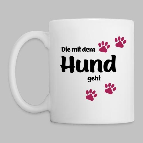 Die Mit Dem Hund Geht - Edition Colored Paw - Tasse
